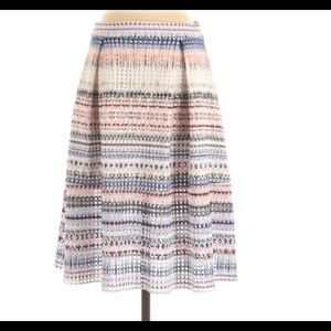 AQUA Perforated Multi Color Skirt Size S